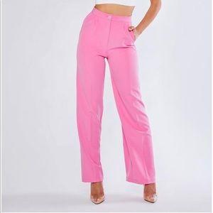 - NWT- Meshki pink wide leg suit pants